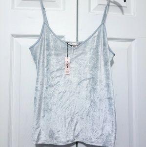 L Victoria's Secret Velour Cami Steel grey